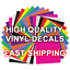 CUSTOM-TEXT-HIGH-QUALITY-VINYL-DECAL-LETTERING miniature 3