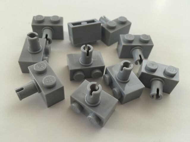 *NEW* 30 Pieces Lego BRICK MODIFIED 1X2 BLUISH GRAY with Pin 2458