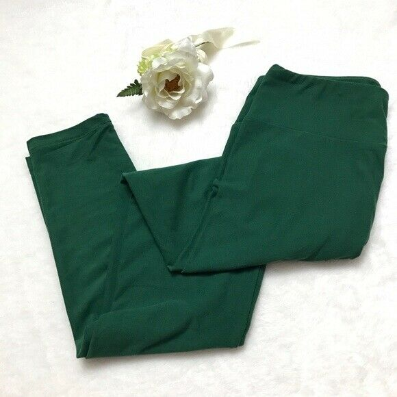 NWT LuLaRoe TC LEGGINGS SOLID GREEN EMERALD TEAL GORGEOUS COLOR EASTER