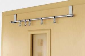 t rgarderobe aus metall 5 variablen haken kleiderhaken hakenleiste t rhaken t r ebay. Black Bedroom Furniture Sets. Home Design Ideas