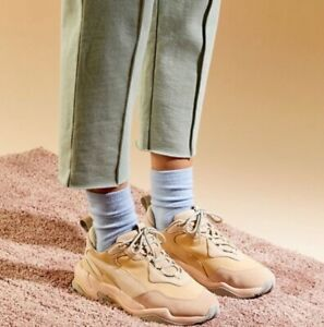 PUMA THUNDER Pink Leather Dad shoes
