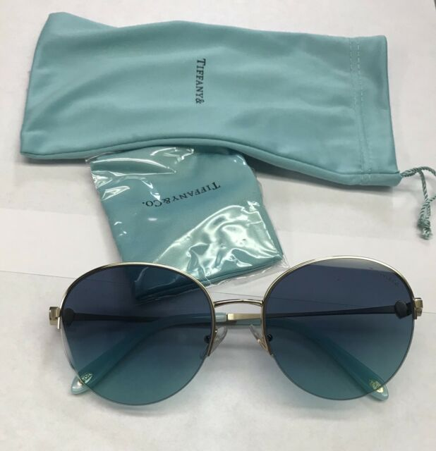 f1ad1cfc7557 Tiffany   Co. TF 3053 60219s Pale Gold Azure Gradient Blue Lens ...