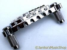 Chrome silver electric guitar wraparound bridge hard tail wrap around- UK SELLER