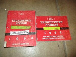 1994 Ford Thunderbird Cougar Wiring Diagram & Service ...