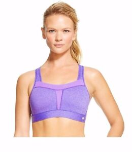 89adbe3928 C9 Champion HIGH SUPPORT Sports Bra Cup Purple Blue Adj Straps ...