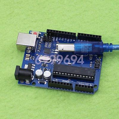New UNO R3 ATmega328P ATmega16U2 Version Board + USB Cable For Arduino