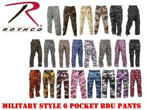 bc4c8caaa2 Image is loading Rothco-Camouflage-Digital-6-Pocket-Military-Tactical-BDU-