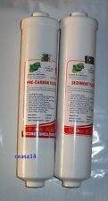 For RO Water Purifier Inline Filter 1 Sediment +1 Carbon+ 4 Elbow For KENT RO