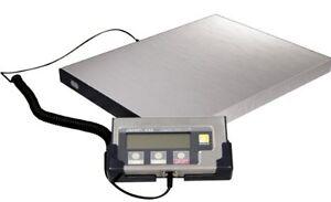 Edelstahl Paketwaage- Plattformwaage 150kg/0,1kg **inkl. Netzteil + Batterien**