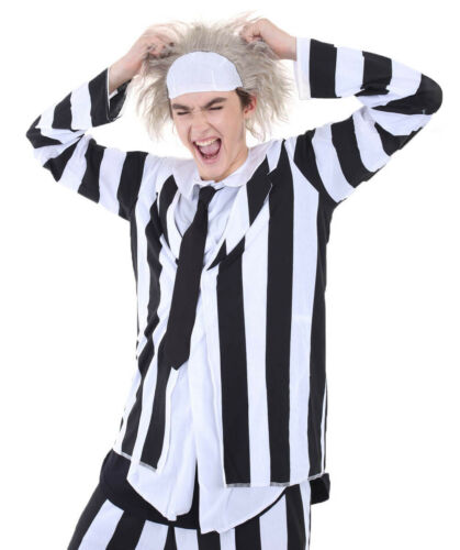 Clothing Shoes Accessories Women Adult Men S Black And White Stripe Jacket For Cosplay Beetlejuice Costume Hc 135 Sraparish Org