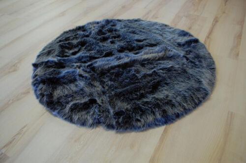 BC Velvet Silver-Grey Kunstfell Fell-Optik grau silber verschiedene Größen rund