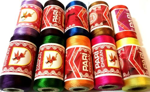 10 Embroidery Spools Sewing Machine Silk Threads best 4 BROTHER-JANOME-GUTERMAN