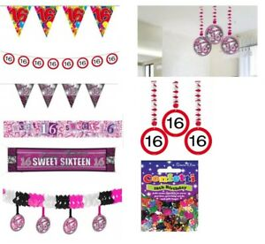 Image Is Loading 16th Birthday Decorations Sweet 16 Party Supplies