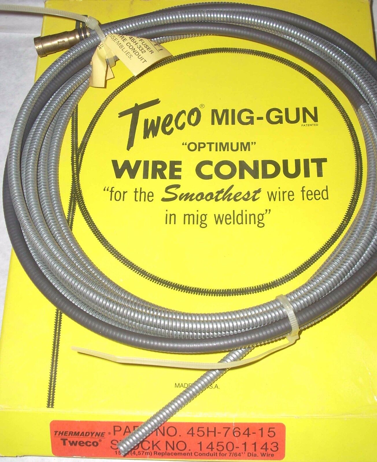 Tweco 45h 764 15 Mig Wire Conduit 3a Ebay Electrical Wiring Norton Secured Powered By Verisign