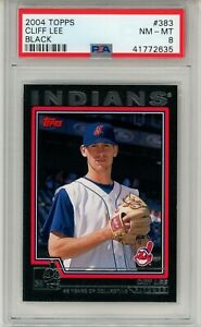 2004-Topps-Black-383-Cliff-Lee-Indians-PSA-8-NM-MT-14-53