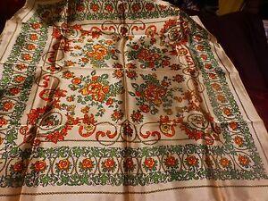 vintage-neuf-beau-foulard-mordore-soyeux-fleurs-ans-50-60-a-saisir
