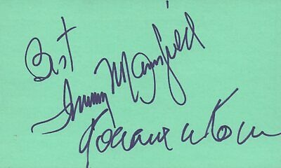 Irving Mansfield And Howard Koch Producers 1976 Autographed Signed Index Card Unequal In Performance Autographs-original