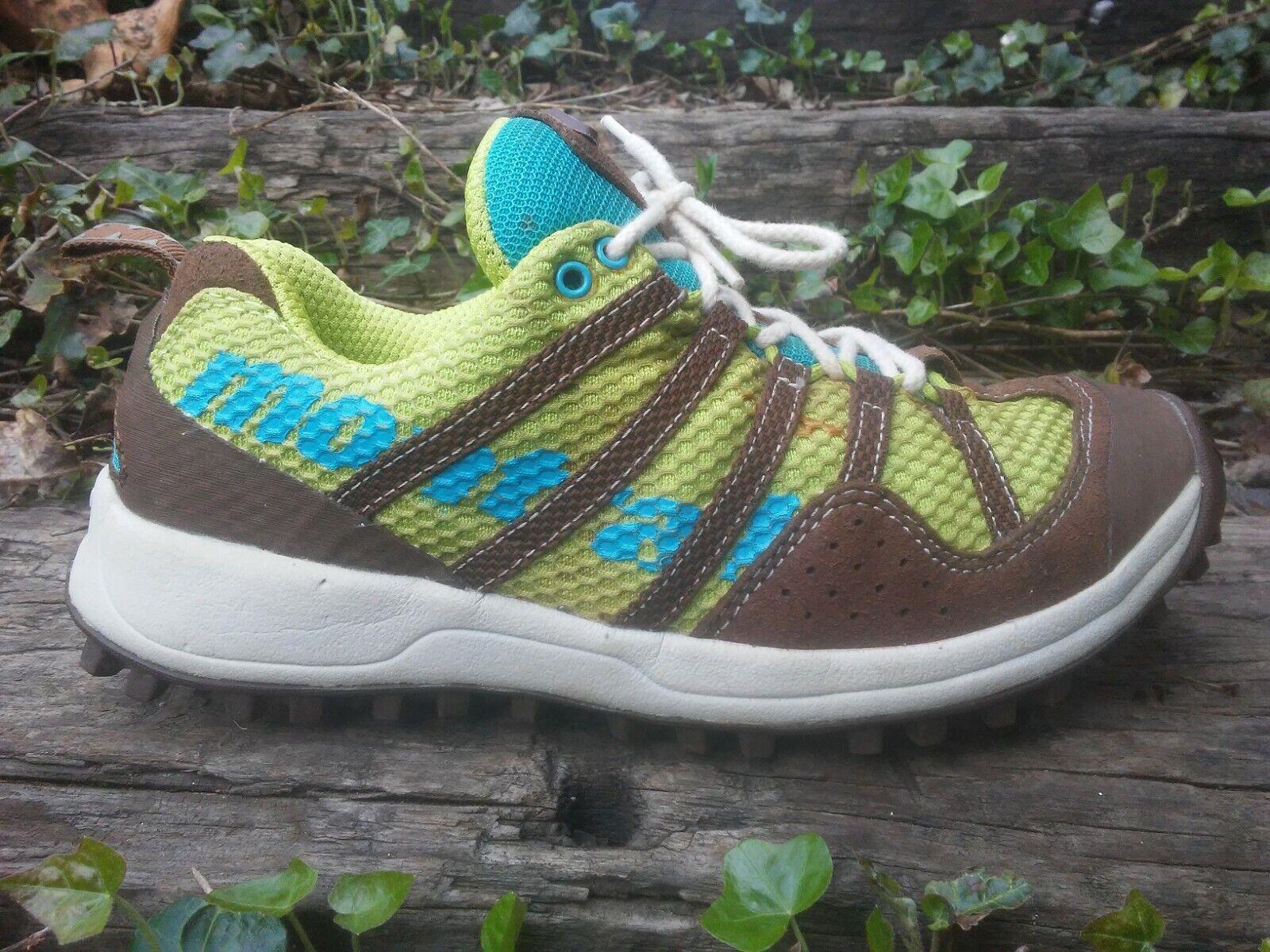 Women's Montrail Highlander Trail Running shoes bluee Green Size 6.5