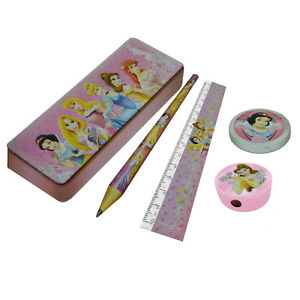 Schreibset-Disney-Prinzessin-Bleistift-Radiergummi-Anspitzer-Bleistiftbox-Lineal