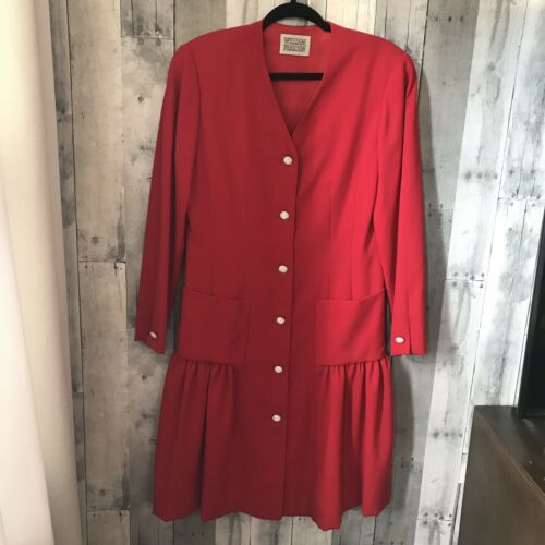 Women William Pearson Wool Red Jacket/Dress Crysta