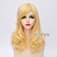 55cm Lolita Harajuku Blonde Curly Hair Heat Resistant Daily Party Cosplay Wig