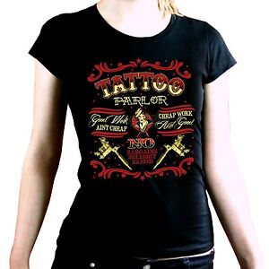 Camisa-Mujeres-Tatuaje-Camiseta-de-Chica-Rockabilly-Classic-Oldschool-Flash-1113