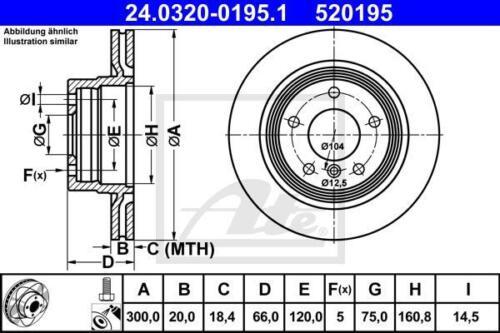 2x ATE POWER DISC BREMSSCHEIBE HINTEN BMW 1 BMW 3 E81 E87 E90 E93 E92 E91