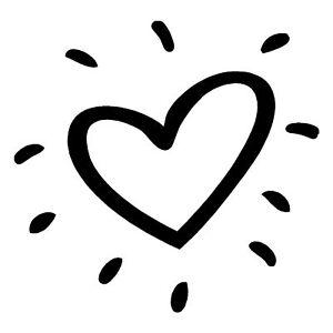 cute heart sticker sun love fun girlie car window decal ebay