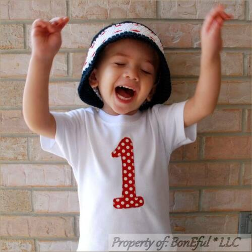 BonEful RTS NEW Boutique Baby White Red Dot On*sie Top Girl Boy 18M 1st Birthday