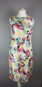 Monsoon-Floral-Tropical-Chiffon-Occasion-Party-Evening-Pencil-Dress-UK-12