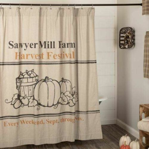 SAWYER MILL HARVEST FESTIVAL SHOWER CURTAINNancy/'s Nook by VHC Brands