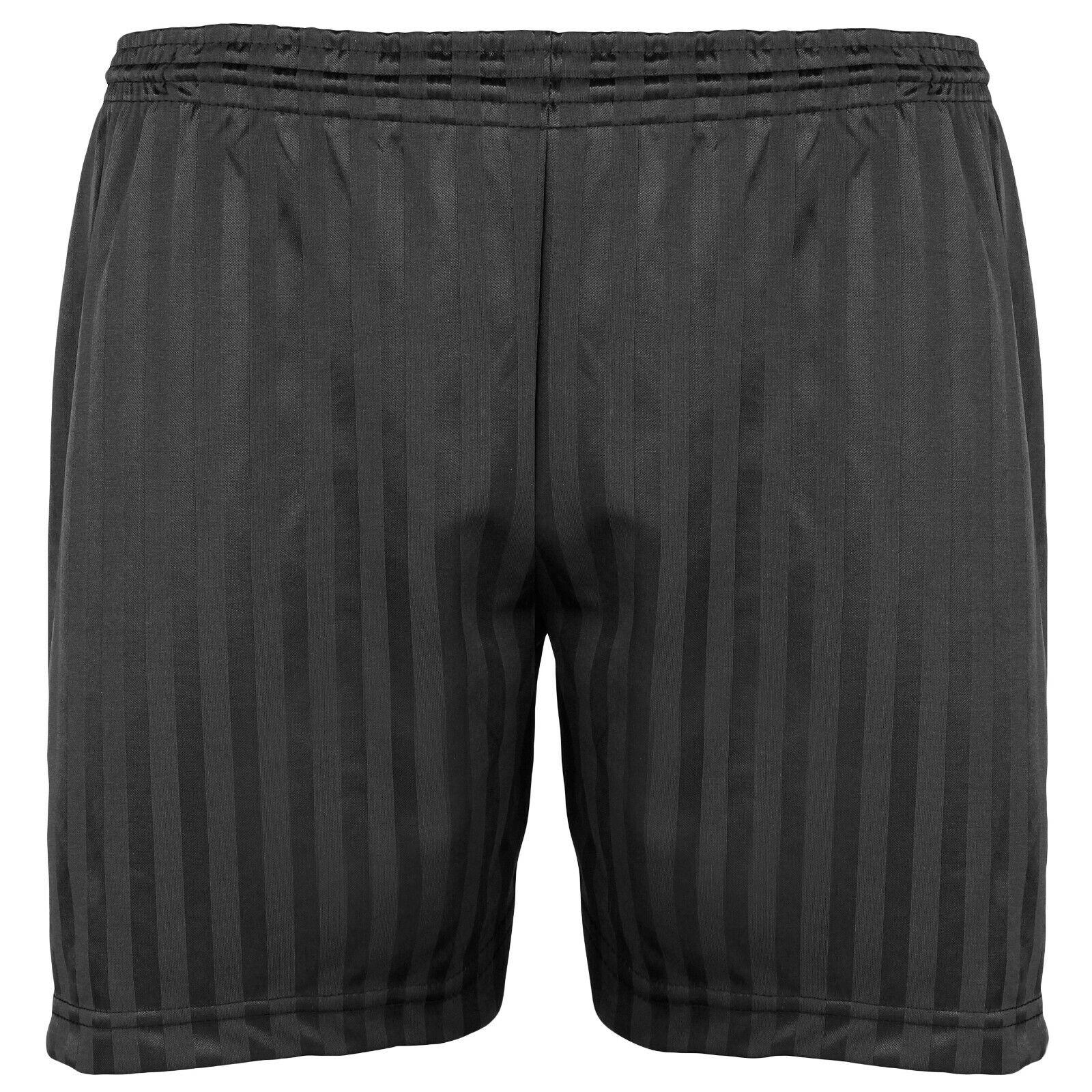 Girls Boys Children PE Shadow Stripe Gym Sports Football Games Shorts