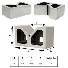 Set Of 2 Pieces 4 Inch Cast Iron V Blocks Ground 4 X 1 58 X 2 58