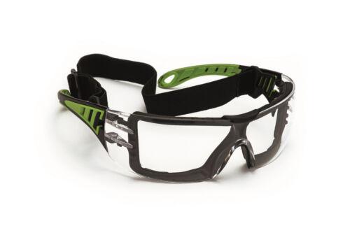 Schutzbrille klar mit Kopfband Gummiband Vollsichtbrille und Bügelbrille  NEU