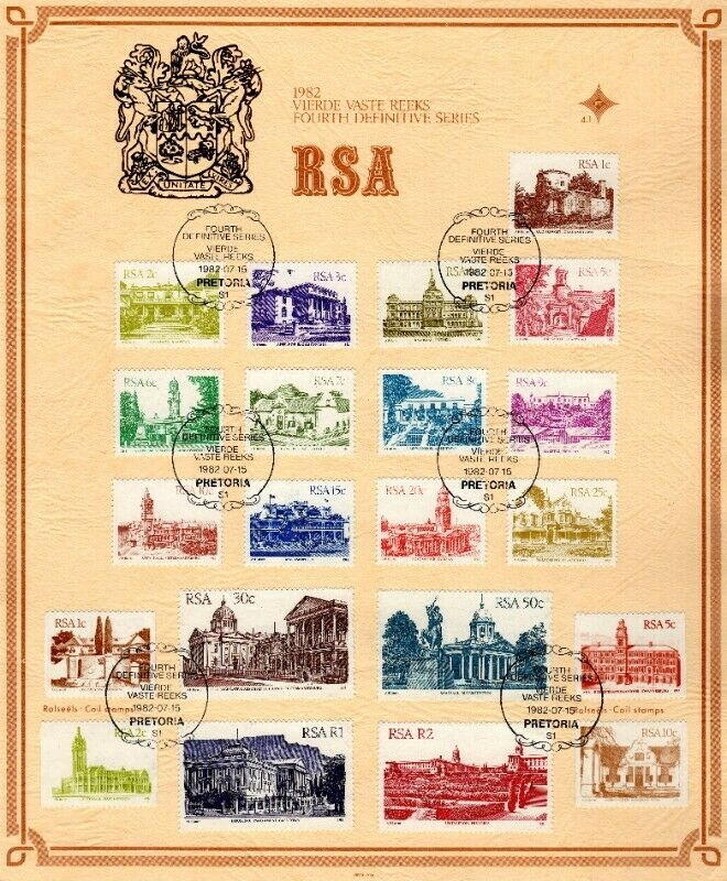 Commemorative Stamp Set - Fourth Definitive Series Historic Buildings 1982