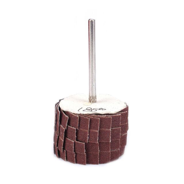 Polishing Emery Cloth Sandpaper Wire Abrasive Flap Wheel 80-600# Shank 3mm