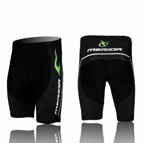 Merida Green Fire Men/'s Padded Shorts Bibs Coolmax Cycle Cycling Knickers