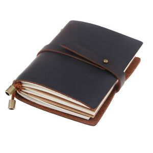 Genuine Leather Travel Journal Travelers Notebook Notepad, Diary, Sketchbook