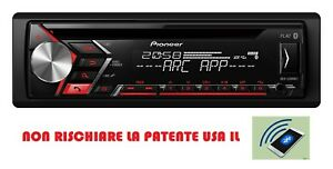 Pioneer-Autoradio-Android-bluetooth-Mp3-CD-USB-AUX-50WX4-DEH-S3000BT-Ribasso