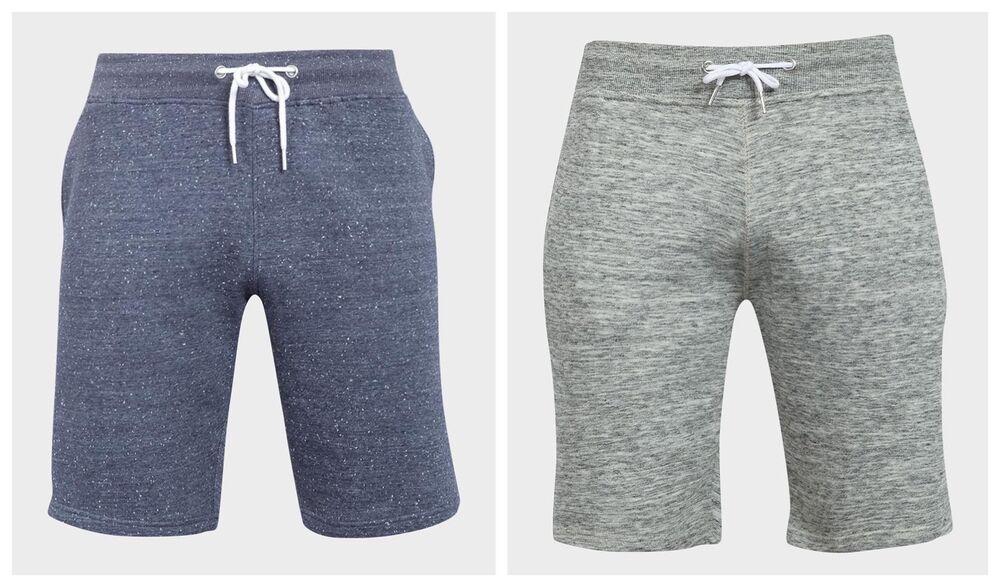 Contemplatif Homme Bleu Gris Chiné Taille élastique En Coton Doux Jogger Shorts Xs S M L Xl PréVenir Et GuéRir Les Maladies