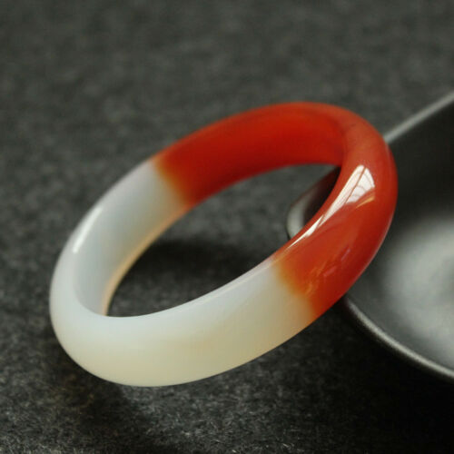 Fashion Chinese 100/% Natural Agate Chalcedony Jewelry Bangle Bracelet 56mm-62mm