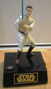 ☛ Star Wars Obi Wan Kenobi Action Figure Coin Bank, Moves When Motion Detected ☚