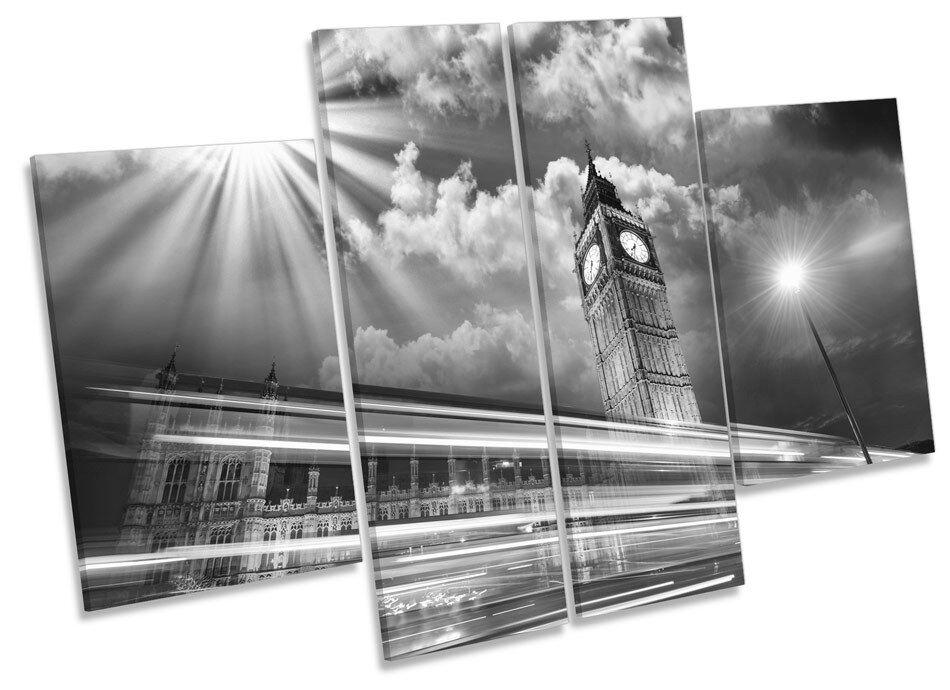 Big Ben London City Landmarks CANVAS WALL ART MULTI Panel Print Box Frame