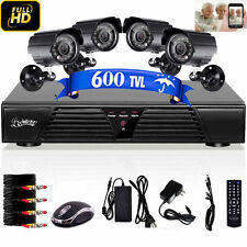 NEWEST Home Security 4CH 600TVL DVR HDMI CCTV Camera Outdoor Surveillance System