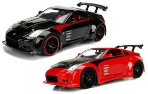 1-24-JDM-2003-Nissan-350Z-Black-Red-Jada-Diecast-Model