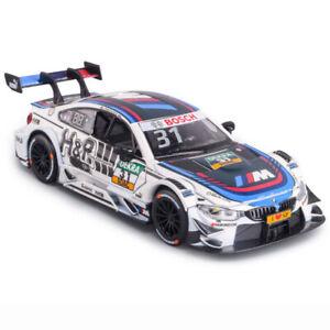 Escala-1-32-2017-BMW-M4-DTM-Tom-Blomqvist-modelo-automovil-de-carrera-Juguete-Diecast-Tire-hacia