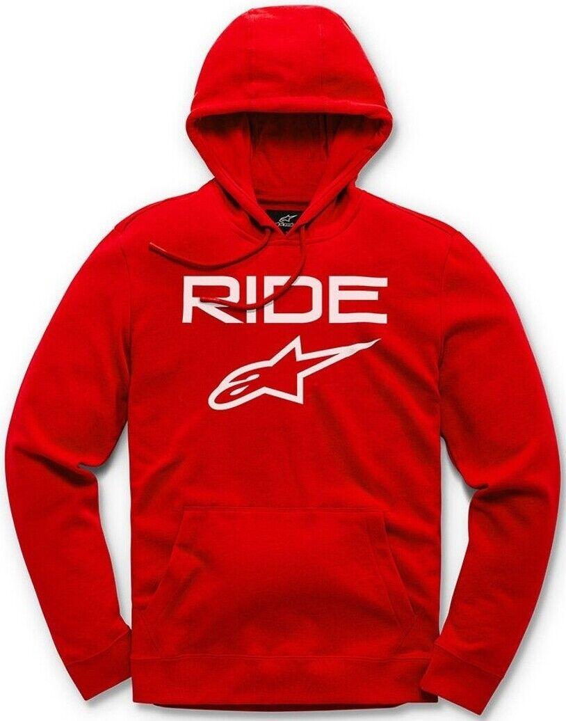 Alpinestars Casual Astars Ride 2.0 Fleece Pullover Hoodie - Red/White