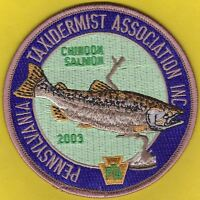 Pa Pennsylvania Fish Game Commission 2003 Pta Chinook Salmon Taxidermy Patch