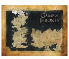 Game of Thrones Map Wall Canvas Official Licensed