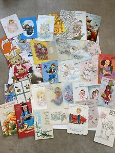 Vintage Greeting Cards Lot- 1950s And Up. 35 Cards- Ephemera- Mixed Lot- C